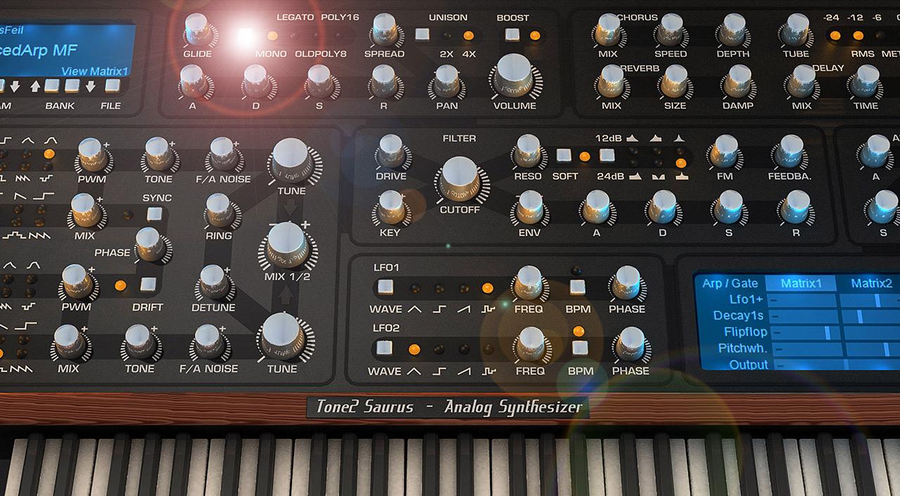 Saurus VST AU plugin - True analog