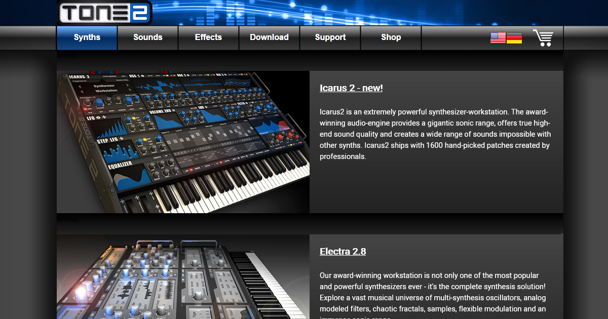 Tone2® - award winning VST / AU Plugins