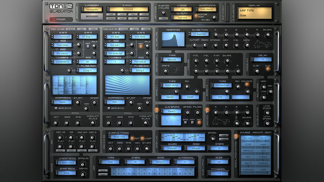 Gladiator VST AU plugin - A revolution in synthesis